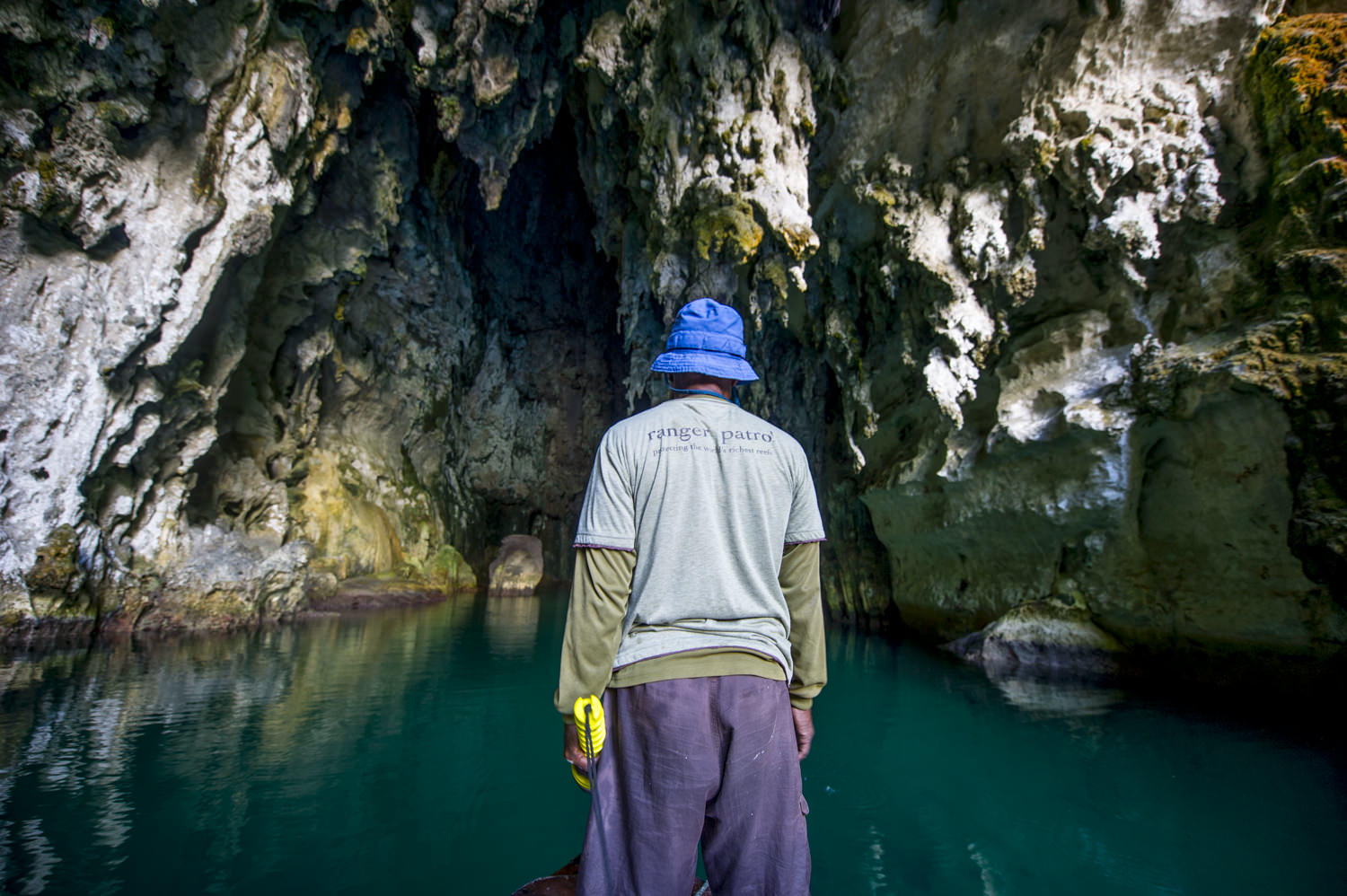 A fisherman turned ranger, who now works with Misool Eco Resort to protect the local MPA