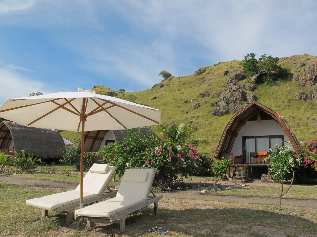 The reef is right off the beach. Photo by Komodo Resort & Diving Club